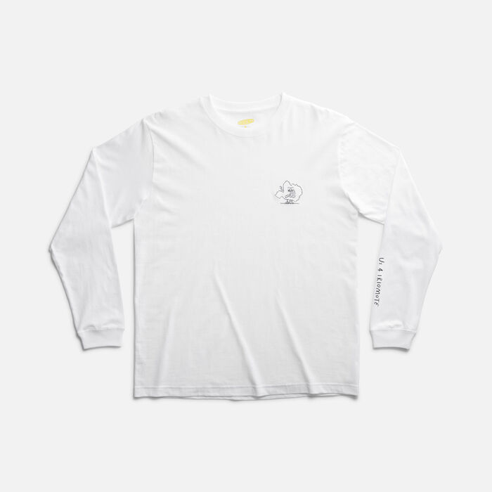 US 4 IRIOMOTE チャリティーL/S TEE EMB 『イリオモテヤマネコ』 in White - large view.