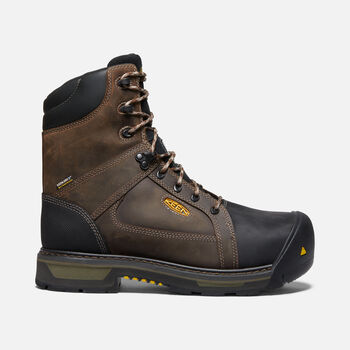 "Men's CSA Oakland 8"" 400g Insulated Waterproof Boot (Carbon Fiber Toe) in BISON/BLACK - large view."