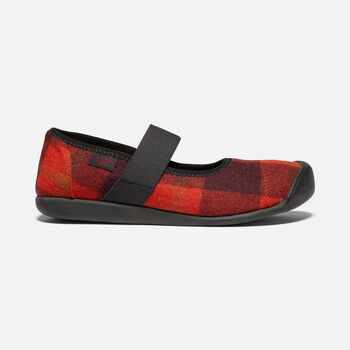 WOMEN'S SIENNA MARY JANE PLAID in RED/BLACK - large view.