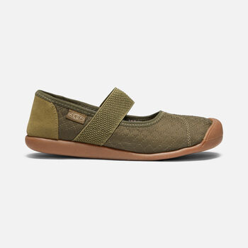 Women's SIENNA QUILTED Mary Jane in MARTINI OLIVE - large view.
