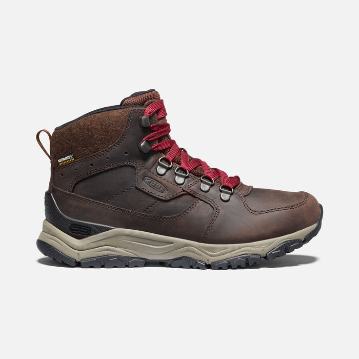 Women's Innate Leather Waterproof Boot in Chestnut/Red Dahlia - large view.