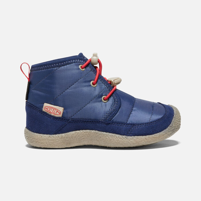 Younger Kids' Howser II Waterproof Chukka in Blue Depths/Red Carpet - large view.