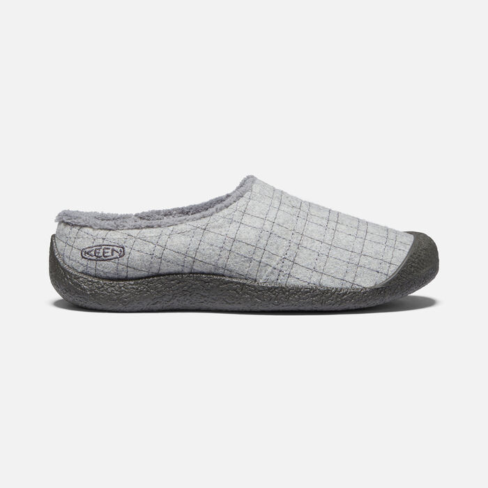 Women's Howser Wrap Slide Casual Shoes in Grey Felt/Plaid - large view.