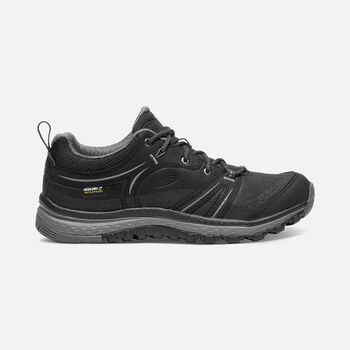 Women's Terradora Leather Waterproof Hiking Shoes in Black/Steel Grey - large view.