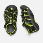 Newport H2 pour enfants in BLACK/LIME GREEN - small view.
