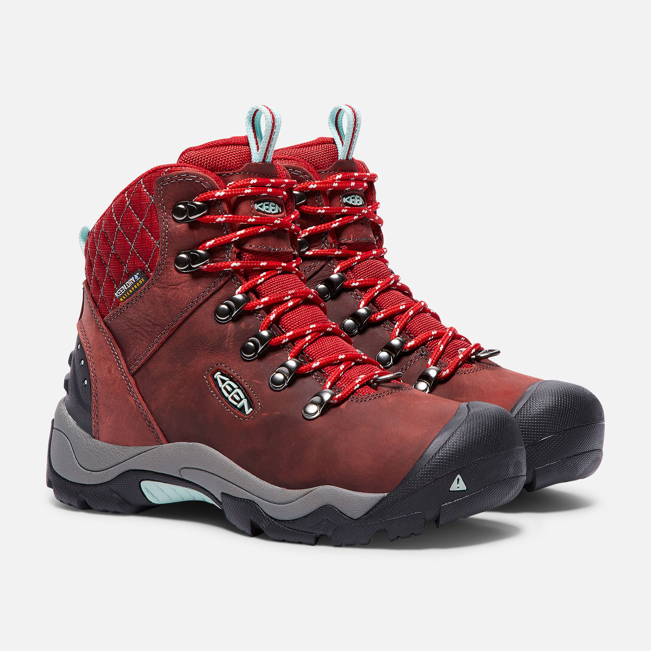 Keen REVEL III - Walking boots Racing Red/Eggshell Women