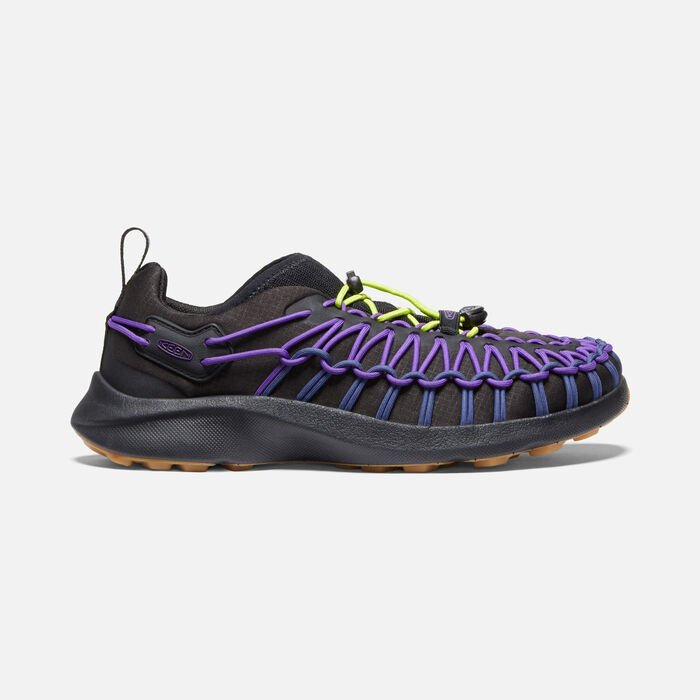 Women's UNEEK SNK Trainers in Black/Greenlake - large view.