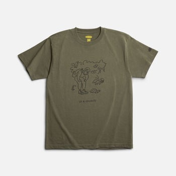 KEEN Iriomote T-Shirt LEARN in OLIVE - large view.