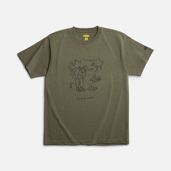 Us 4 IRIOMOTE チャリティTシャツ『知ろう』 in OLIVE - large view.