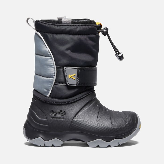 Younger Kids' Lumi Boot II Waterproof Winter Boots in Black/Steel Grey - large view.