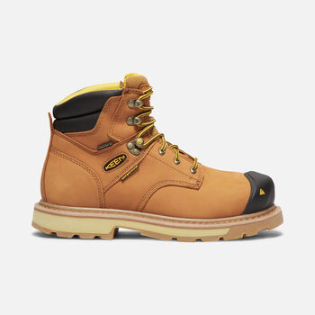 CSA Edmonton Mid (Steel Toe) pour homme in Wheat - large view.
