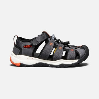 Older Kids' Newport Neo H2 Sandals in MAGNET/SPICY ORANGE - large view.