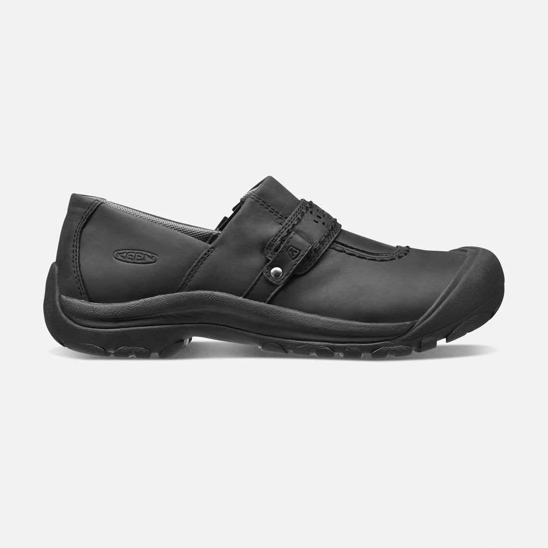 Women's Kaci Full Grain Slip-On in Black - large view.