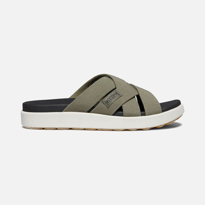 Women's Elle Slide Casual Sandals in Dusty Olive - large view.