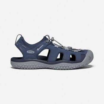 Men's SOLR Sandals in Navy/Steel Grey - large view.