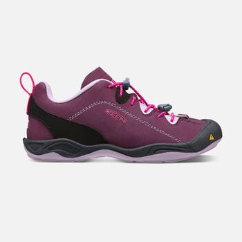 OLDER KIDS' JASPER CASUAL TRAINERS in Plum/Pastel Lilac - large view.