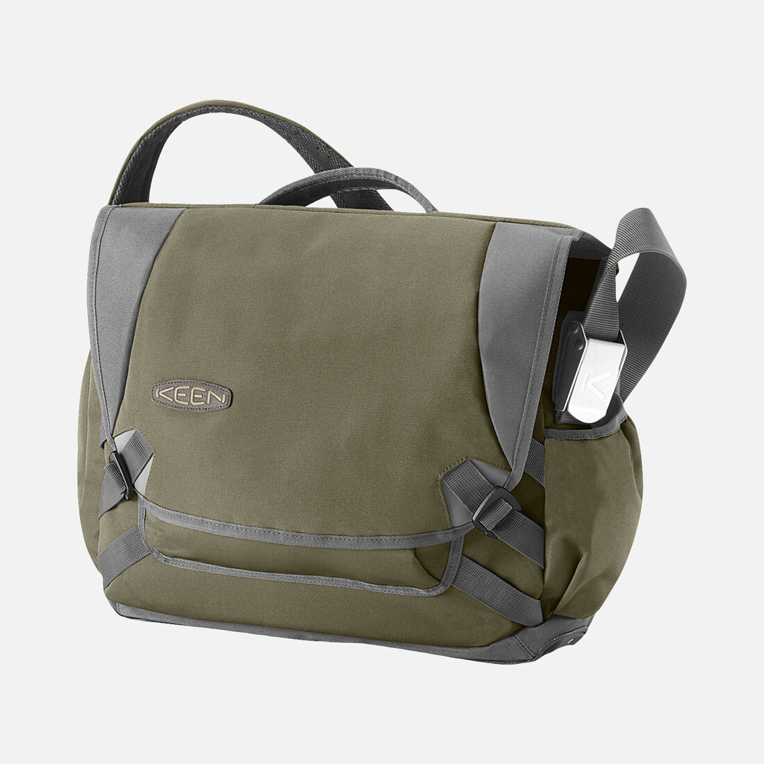 Harrison 15 Check Point Messenger Bag In Forest Night Large View