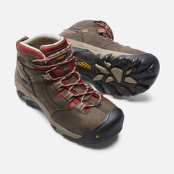 Women's Detroit Mid (Steel Toe) in Black Olive/Madder Brown - small view.