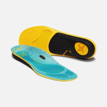 Women's Outdoor K-30 Medium Arch Insoles in BLUE - large view.