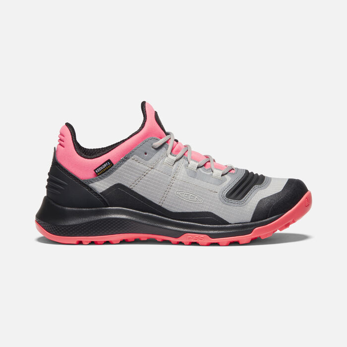 Women's Tempo Flex Waterproof Trainers in Dubarry/Black - large view.