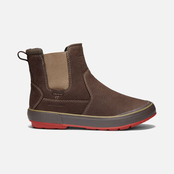 Women's Elsa II Waterproof Chelsea Casual Boots in MULCH/MARTINI OLIVE - large view.