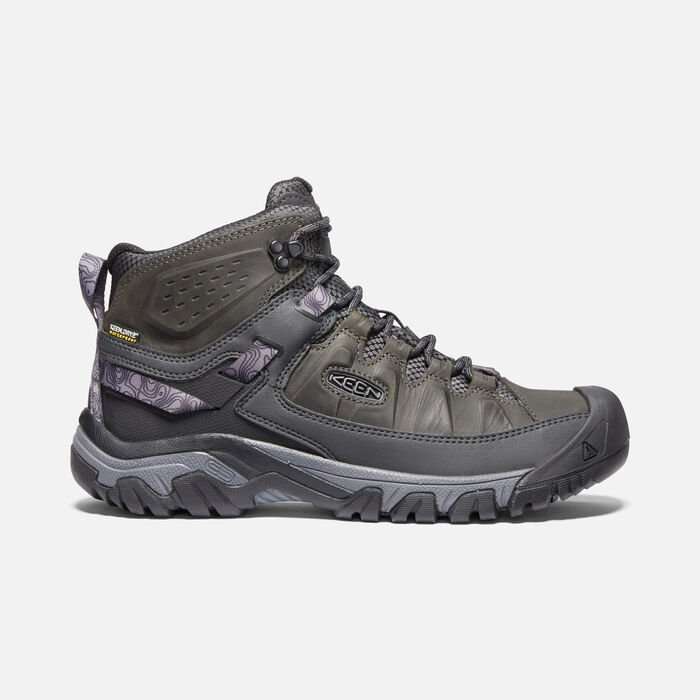 Men's Targhee III Waterproof Mid in Magnet/Black - large view.