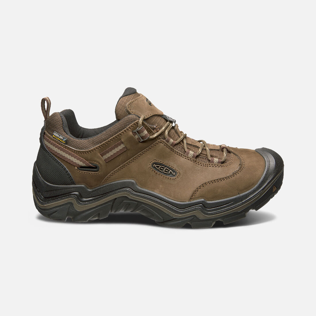 MEN'S WANDERER WATERPROOF HIKING BOOTS in Cascade Brown/Dark Earth - large view.