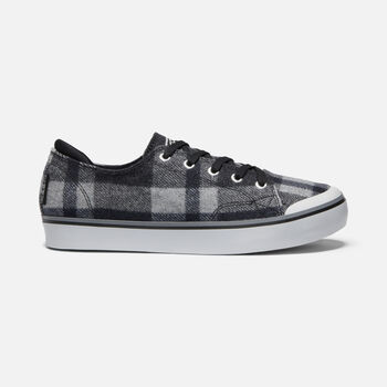 Women's Elsa III Plaid Sneaker in BLACK PLAID/BLACK - large view.