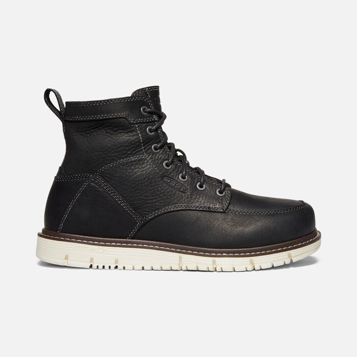 """Men's San Jose 6"""" Boot (Soft Toe) in Black/Off White - large view."""