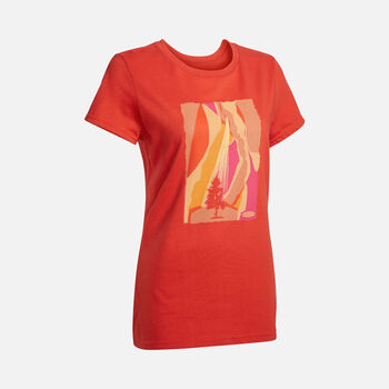 Women's The Lone Tree Tee in MOLTEN LAVA - large view.