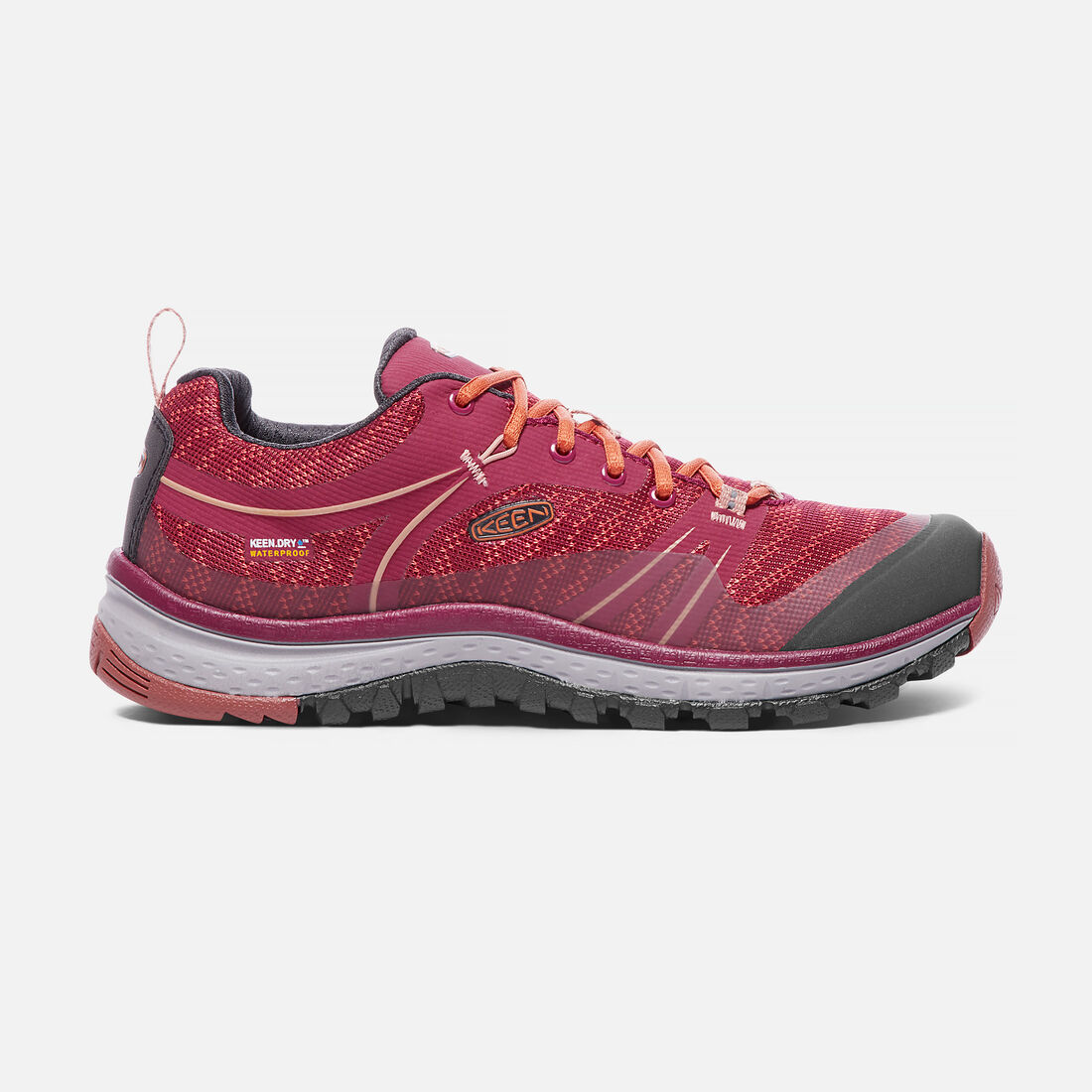 Women's TERRADORA Waterproof in Rhododendron/Marsala - large view.