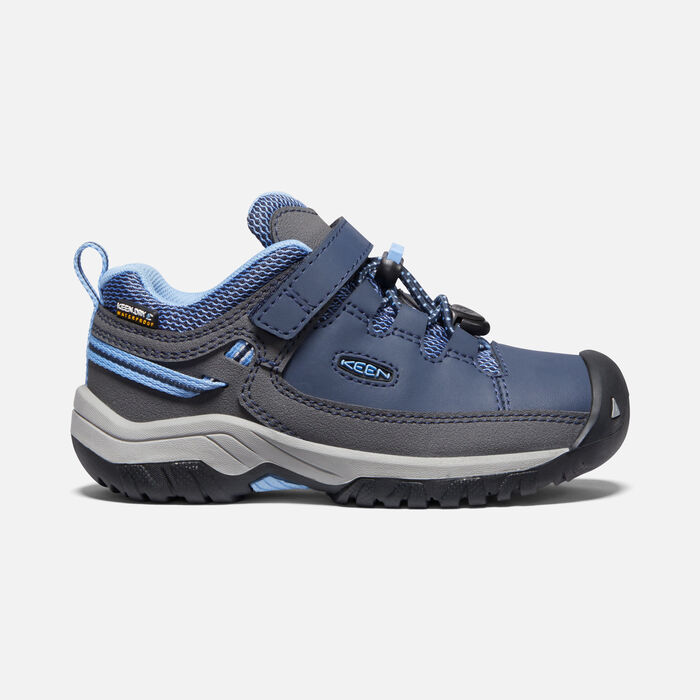 Younger Kids' Targhee Waterproof Hiking Shoes in Blue Nights/Della Blue - large view.