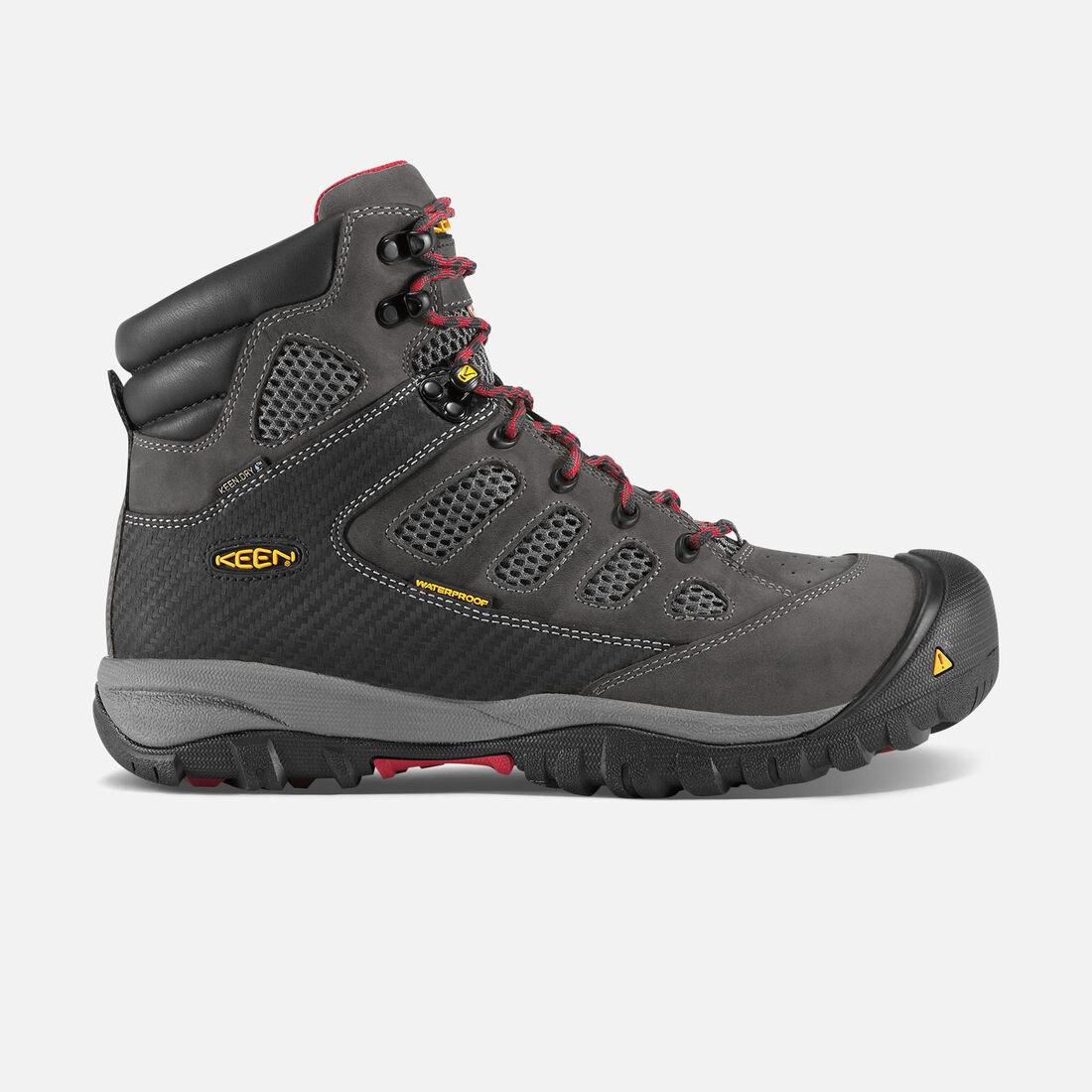 CSA Doverland Waterproof Mid (Steel Toe) pour homme in Magnet/Chili Pepper - large view.