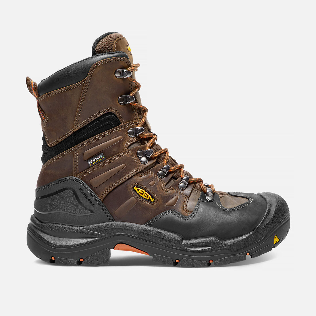 "Men's COBURG 8"" Waterproof Boot (Steel Toe) in Cascade Brown/Brindle - large view."