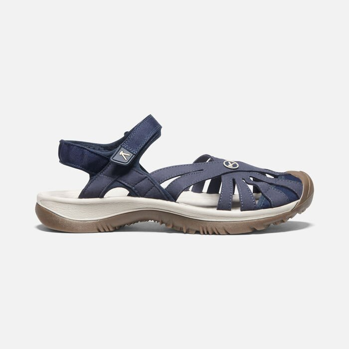 Women's Rose Sandal in Navy - large view.