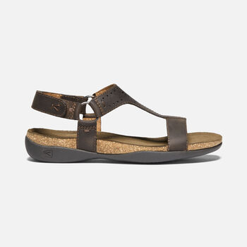 Women's KACI ANA T-STRAP SANDAL in DARK EARTH - large view.