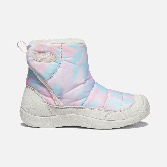 Younger Kids' Howser II Mid Casual Boots in Silver Birch/Pink Blush - large view.