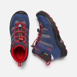 Big Kids' HIKEPORT Waterproof Mid in Dress Blues/Fiery Red - small view.