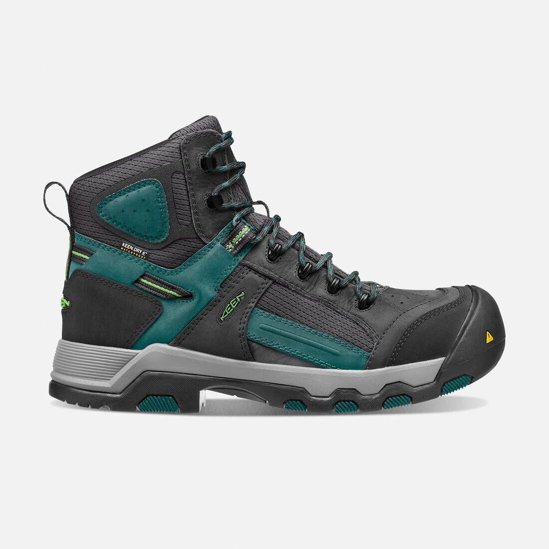 CSA Davenport Waterproof Mid (Composite Toe) pour homme in Black/Deep Teal - large view.