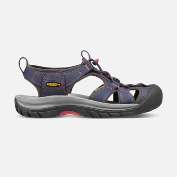 Women's Venice H2 Sandals in Midnight Navy/Hot Coral - large view.