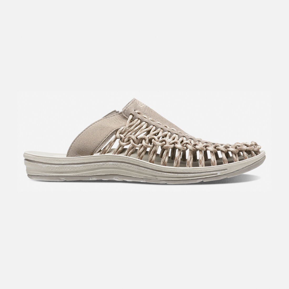 Women's UNEEK SLIDE in Brindle/Feather Gray - large view.