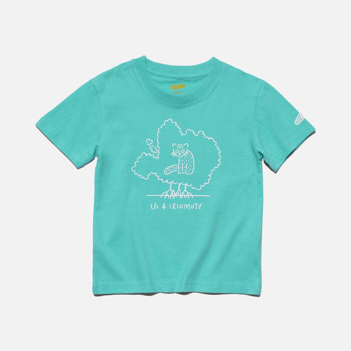 US 4 IRIOMOTE チャリティーKids Tシャツ in Mint Green - large view.