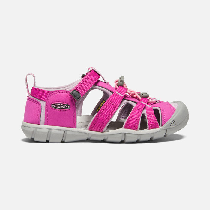 Older Kids' Seacamp II Cnx Sandals in Very Berry/Dawn Pink - large view.