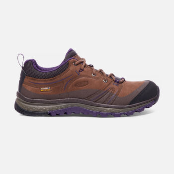 WOMEN'S TERRADORA LEATHER WATERPROOF HIKING SHOES in Scotch/Mulch - large view.