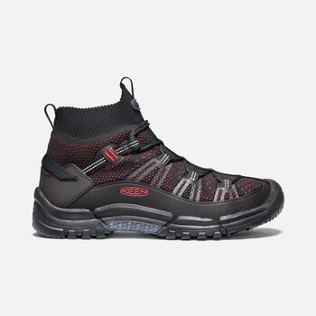 Men's Axis Evo Light Hiking boot in BLACK/TANGO RED - large view.