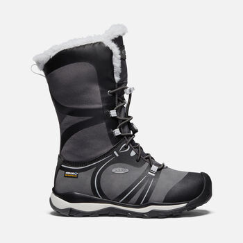 Older Kids' Terradora Winter Waterproof Boots in RAVEN/VAPOR - large view.