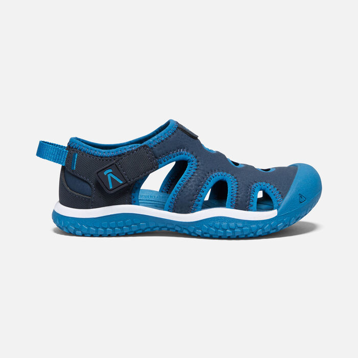 Little Kids' Stingray Sandal in Black Iris/Mykonos Blue - large view.