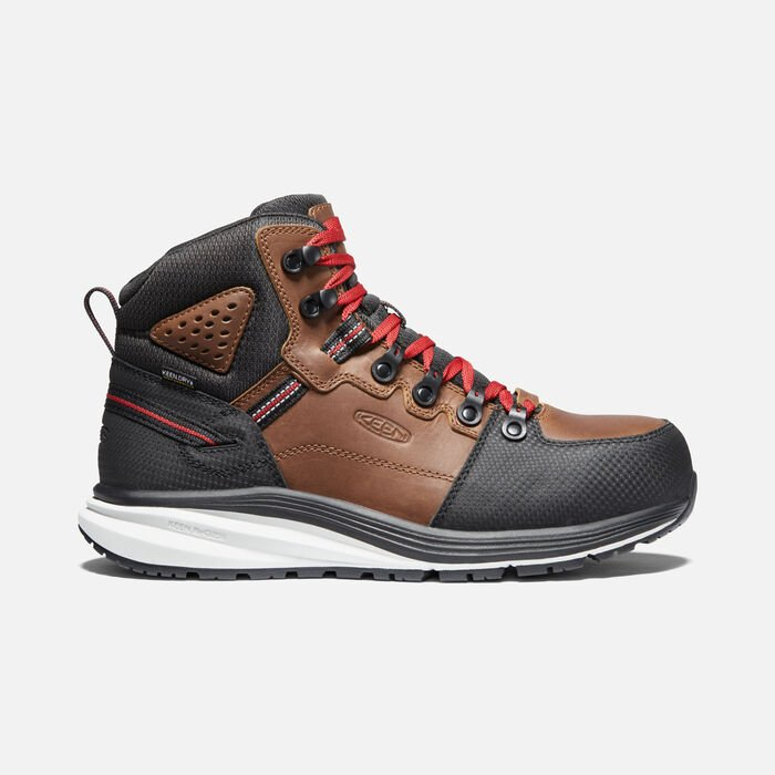 Men's Red Hook Waterproof Boot (Carbon-Fiber Toe) in Tobacco/Black - large view.