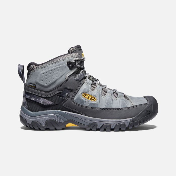 Men's Targhee III Waterproof Mid in Drizzle/KEEN Yellow - large view.