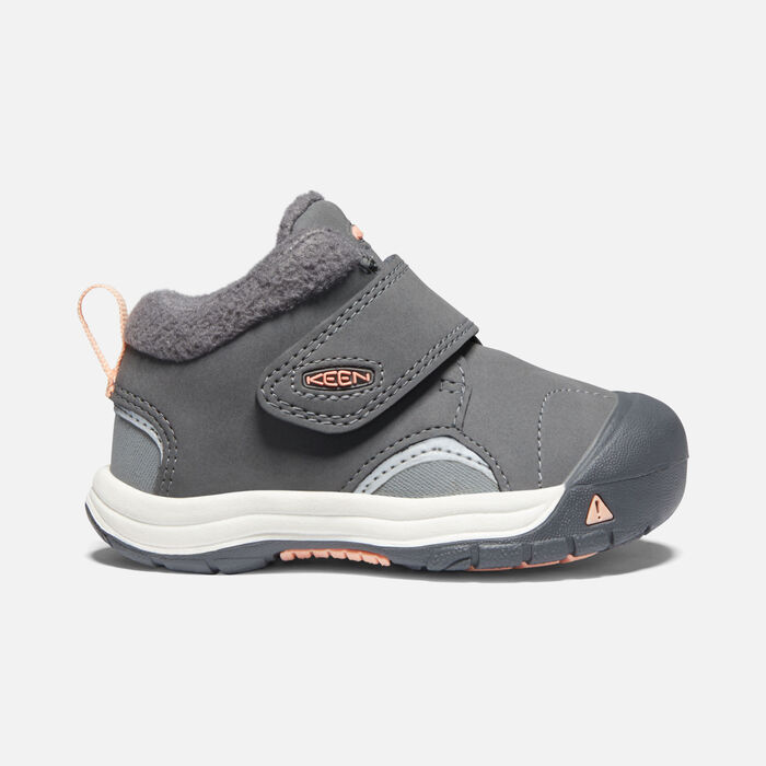Toddlers' Kootenay III Boot in Steel Grey/Dusty Pink - large view.